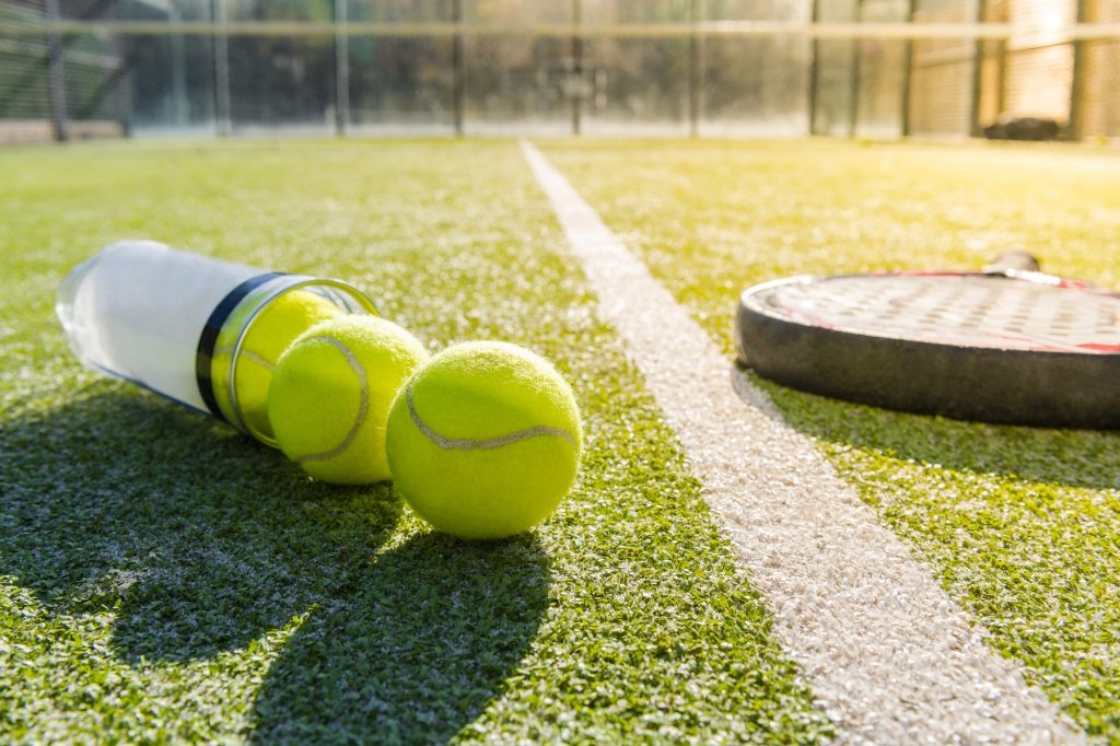tennis can and balls
