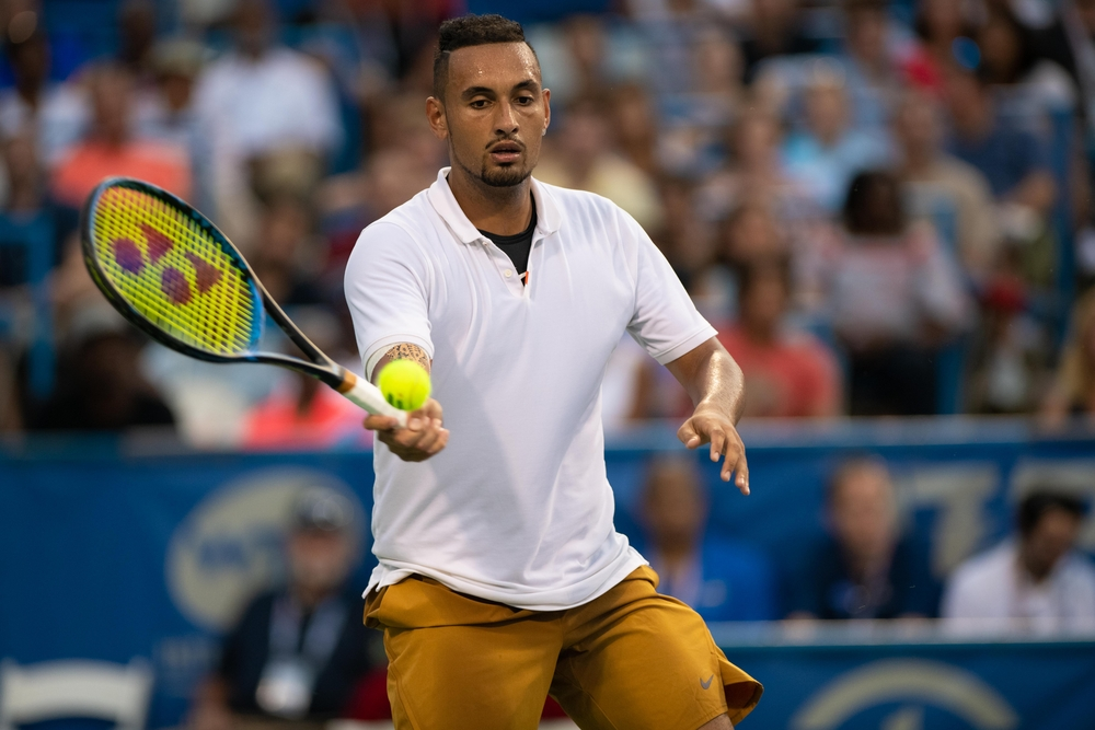 Nick Kyrgios is famous for using underhand serves